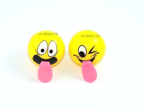 Hüpfball LED Licht,Party Mitgebsel 2x Smiley-Emotion-Gummiball,Springball Spielzeug für draußen