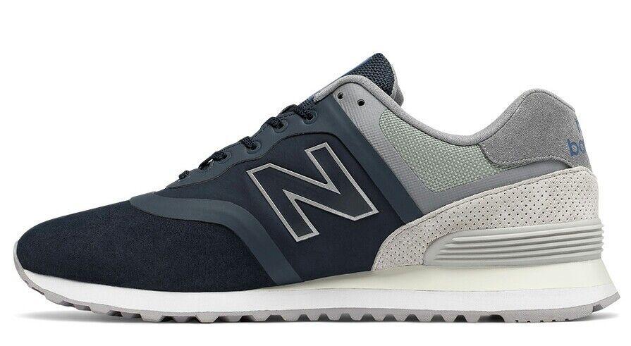 New Balance 574 MTL574DA Navy Grey Mens Size 10.5 Running shoes