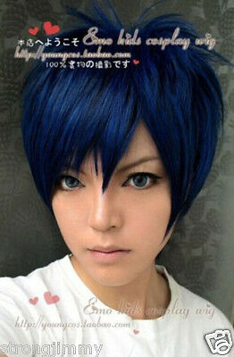 Kuroko's basketball Aomine Daiki Blue-black color mixture cosplay wig H06