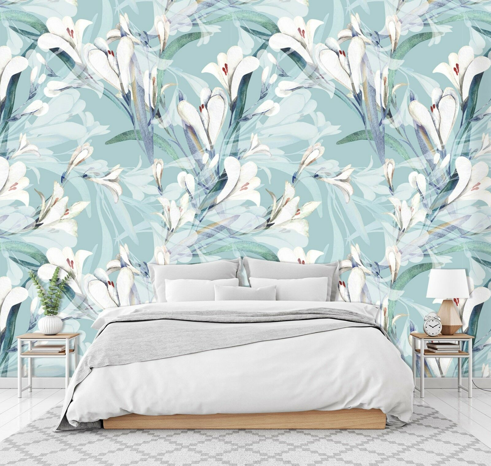 3D Lily Pattern 93 Wall Paper Exclusive MXY Wallpaper Mural Decal Indoor Wall AJ