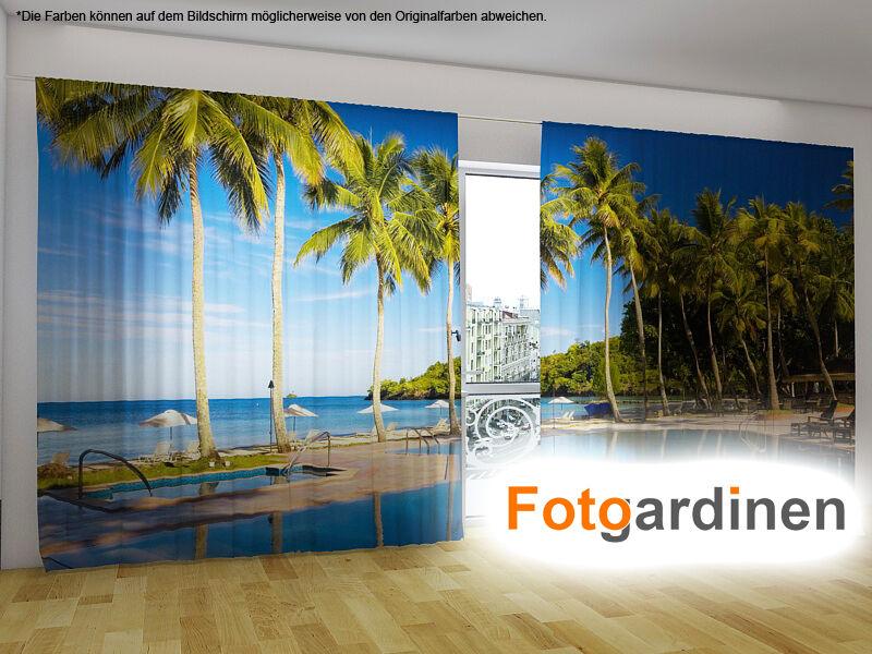 Foto tendine  Spiaggia  sipario con motivo, stampa di foto, foto sipario, su misura