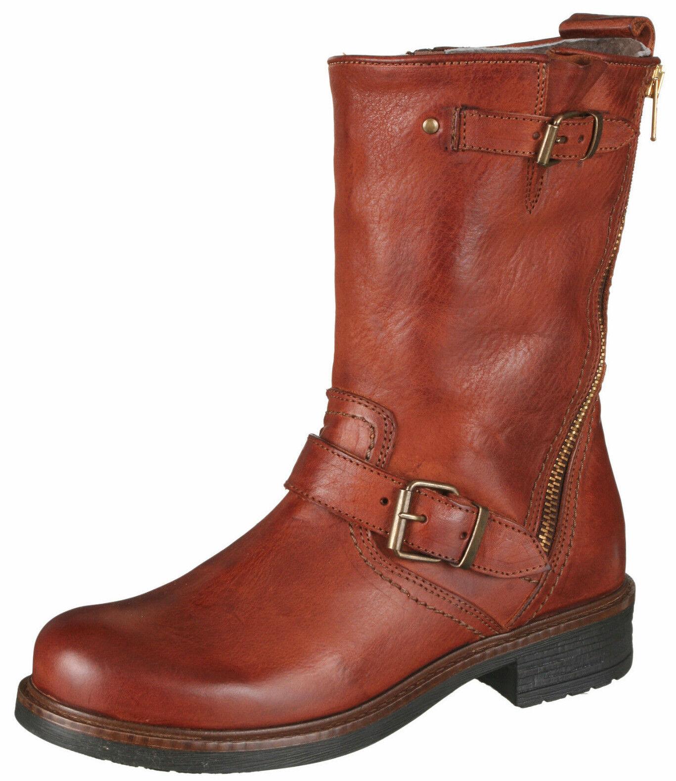 Momino 3552m botas botines botas cordero botas de invierno de cuero 36-40 nuevo