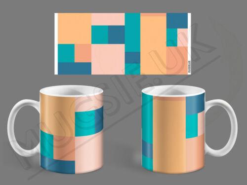 Squares Geometric Pattern Tea or Coffee Mug