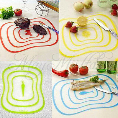 W Plastic Kitchen Cutting Flexible Chopping Vegetable Fruit Mat Board Ultra-thin