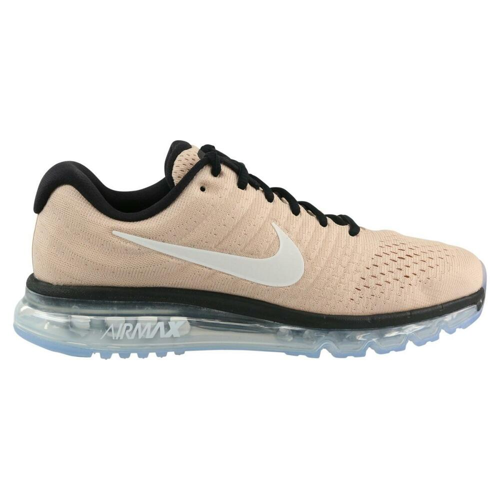 Homme Nike Air Max 2017 Beige fonctionnement Baskets 849559 200-