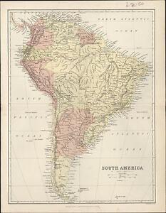 1860-Bartholomew-Antique-Map-of-South-America