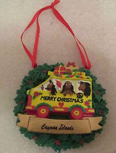 RARE-034-MERRY-CHRISTMAS-034-CAYMAN-ISLANDS-CHRISTMAS-TREE-ORNAMENT-EXCELLENT-L-K