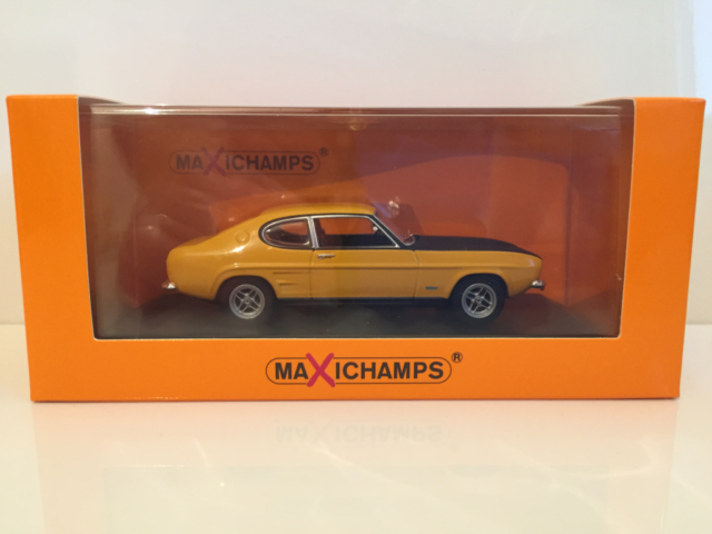 Maxichamps 940085800 Ford Capri RS 1969 Yellow - New 1:43 OFFER