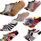 5 Pair Fashion Mens Ankle Socks Low Cut Crew Casual Sport Color Cotton Socks