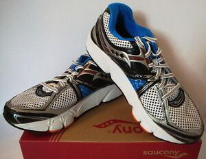 Saucony-Progrid-Echelon-3-Athletic-Running-Shoes-White-Blue-Orange-Mens-New-7-D