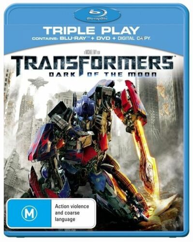 1 of 1 - Transformers - Dark Of The Moon (Blu-ray, 2011, 3-Disc Set)