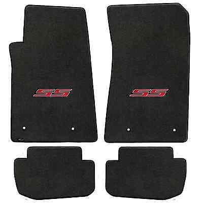 Chevy Camaro 4 Pc Carpet Floor Mats- Ebony - Official SS logo - Fits 2010-2015