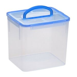 Large Food Storage Container Plastic Handle 40 Cup BPA Free Latch