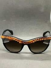 a07ecd6eef6d item 2 PRADA PORTRAIT Sunglasses SPR 04P 54-19 NAC-6S1 Women Cat Eye Blk  Orange Crystal -PRADA PORTRAIT Sunglasses SPR 04P 54-19 NAC-6S1 Women Cat  Eye Blk ...