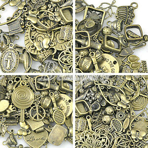 50g-Vintage-Antique-Brass-Beads-Bronze-Spacer-Pendants-Connector-Charm-Fast-Ship