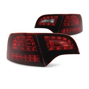 LED-Rueckleuchten-034-New-Design-Dark-Red-034-fuer-Audi-A4-Avant-B7-Bauj-04-08-NEU
