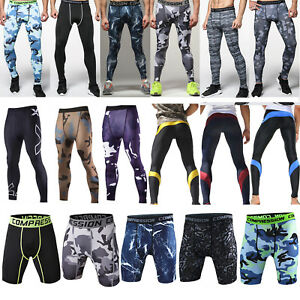 Men-039-s-Compression-Base-Layer-Fitness-Sweatpants-Gym-Leggings-Sports-Shorts-Pants
