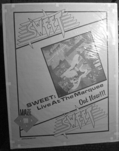 1989 SWEET Live At The Marquee Gig / Promo 17.5x22.5 Poster FN