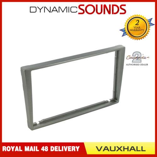 Matt Silver Double Din Fascia Panel Adaptor No Crease for Vauxhall Agila 2000-07