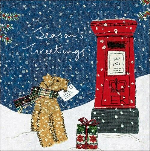 Pack Of 5 Childline Charity Christmas Cards By Woodmansterne Made In