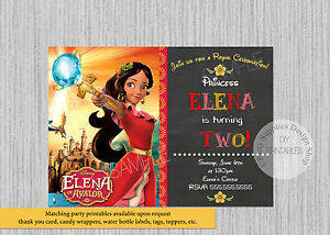 Image Is Loading PRINTED Elena Of Avalor Birthday Invitations Princess