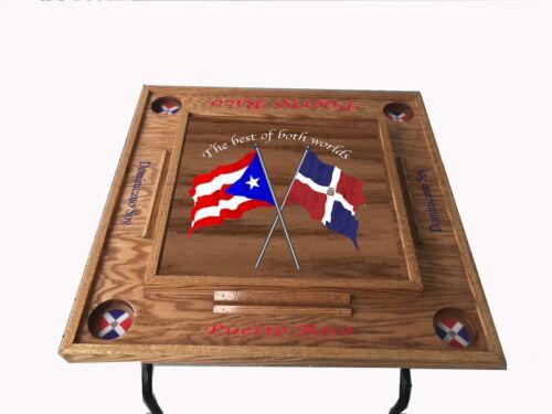 Puerto Rico & Dominican Republic Domino table -Dark walnut