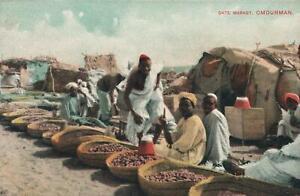 EARLY-1900-039-s-VINTAGE-DATE-MARKET-OMDURMAN-SUDAN-POSTCARD-UNUSED-VG