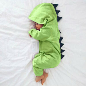 Kids Baby Dinosaur Style Hooded Coat Boys Girls Outwear Jacket Tops Clothes V8