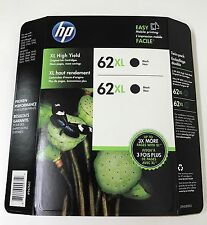 HP Genuine 62XL Black Twin Pack of Ink Cartridges in Retail Box EXP. 1/2018