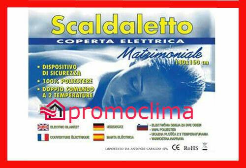 TERMOCOPERTA ELETTRICA SCALDALETTO MATRIMONIALE SCALDASONNO INVERNO CASA