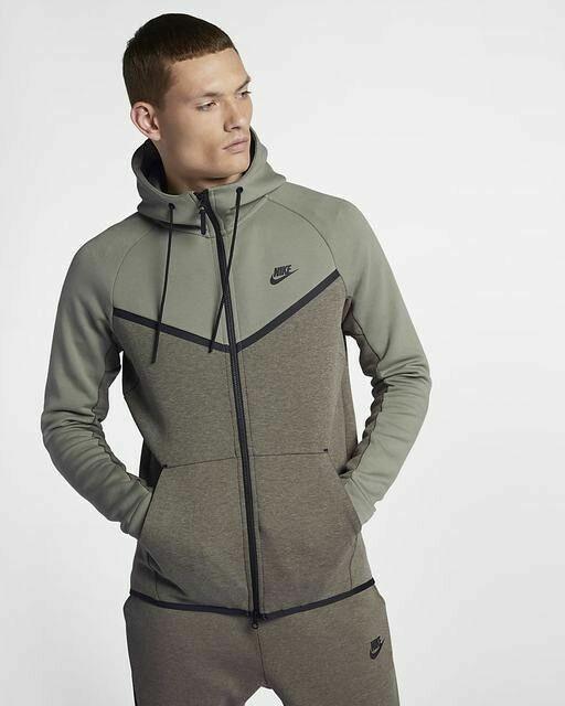 Nike Tech Fleece Windrunner Hoodie Mens 885904-004 Dark Stucco Hoody Size M