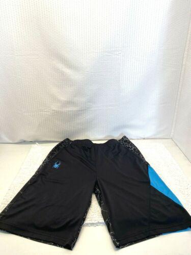 Spyder Swimwear Men's Black w/ Turquoise Spider &W