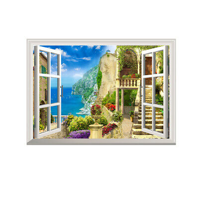 World city scenery Home room Decor Removable Wall Sticker//Decal//Decoration