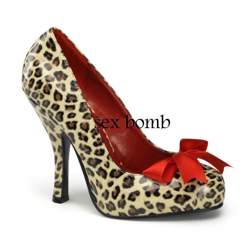 SEXY SCARPE DECOLLETE leopard PLATEAU NASCOSTO TACCO 11,5 numero 36