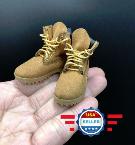 1//6 scale classic brown work boots HOLLOW for 12/'/' Male Figure Body Doll