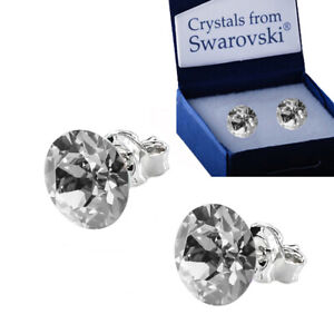 100% quality new list meticulous dyeing processes Details about 925 Sterling Silver Stud Earrings *Silver Shade* Xirius  Crystals from Swarovski®