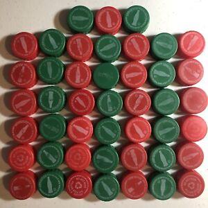 45 UNUSED Red Green My Coke Rewards CODES Plastic Pop Bottle Caps Coca-Cola FREE