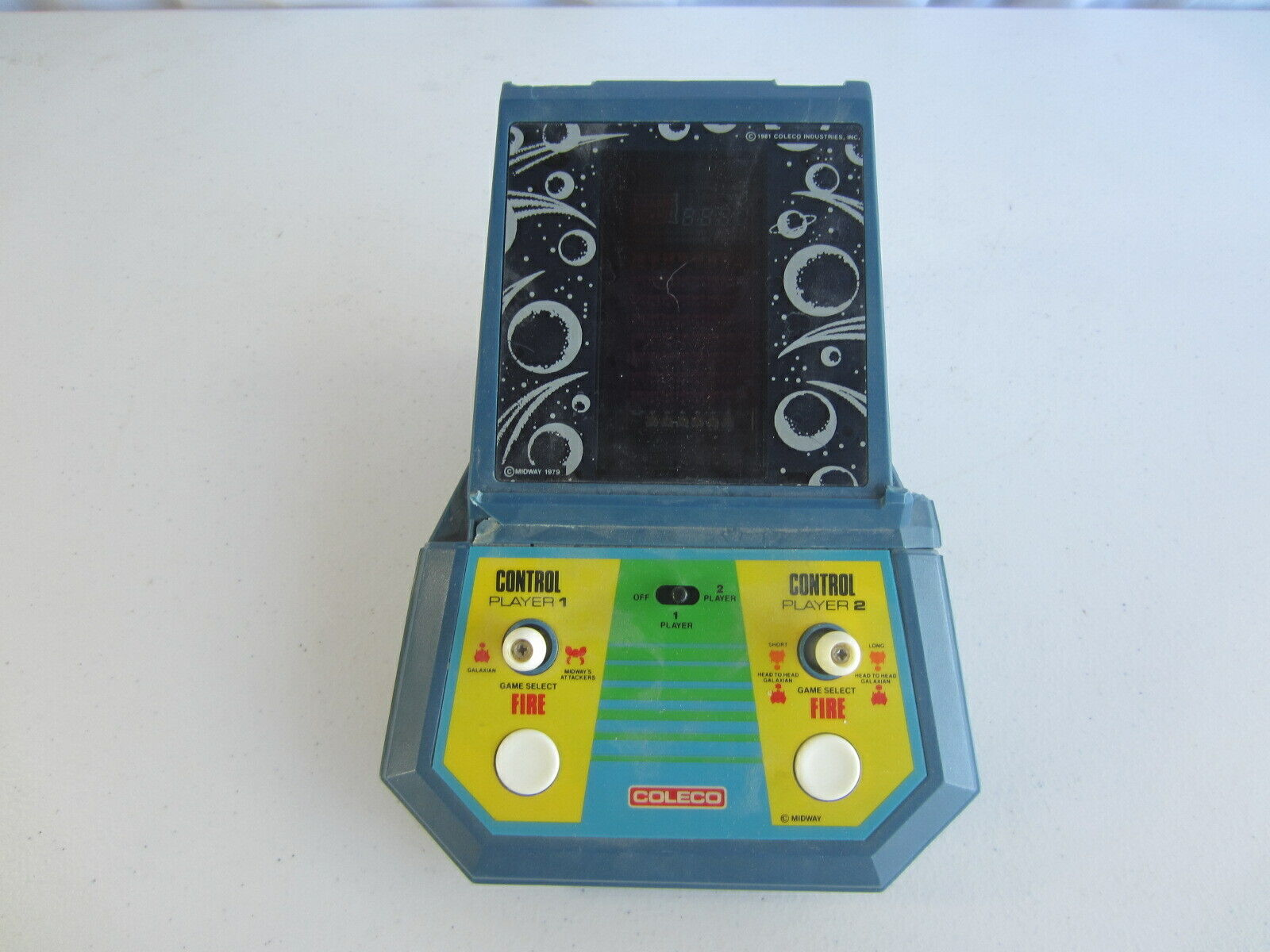 1981 Midway Coleco No. 2380 Galaxian 2 Player Miniature Tabletop Arcade Game