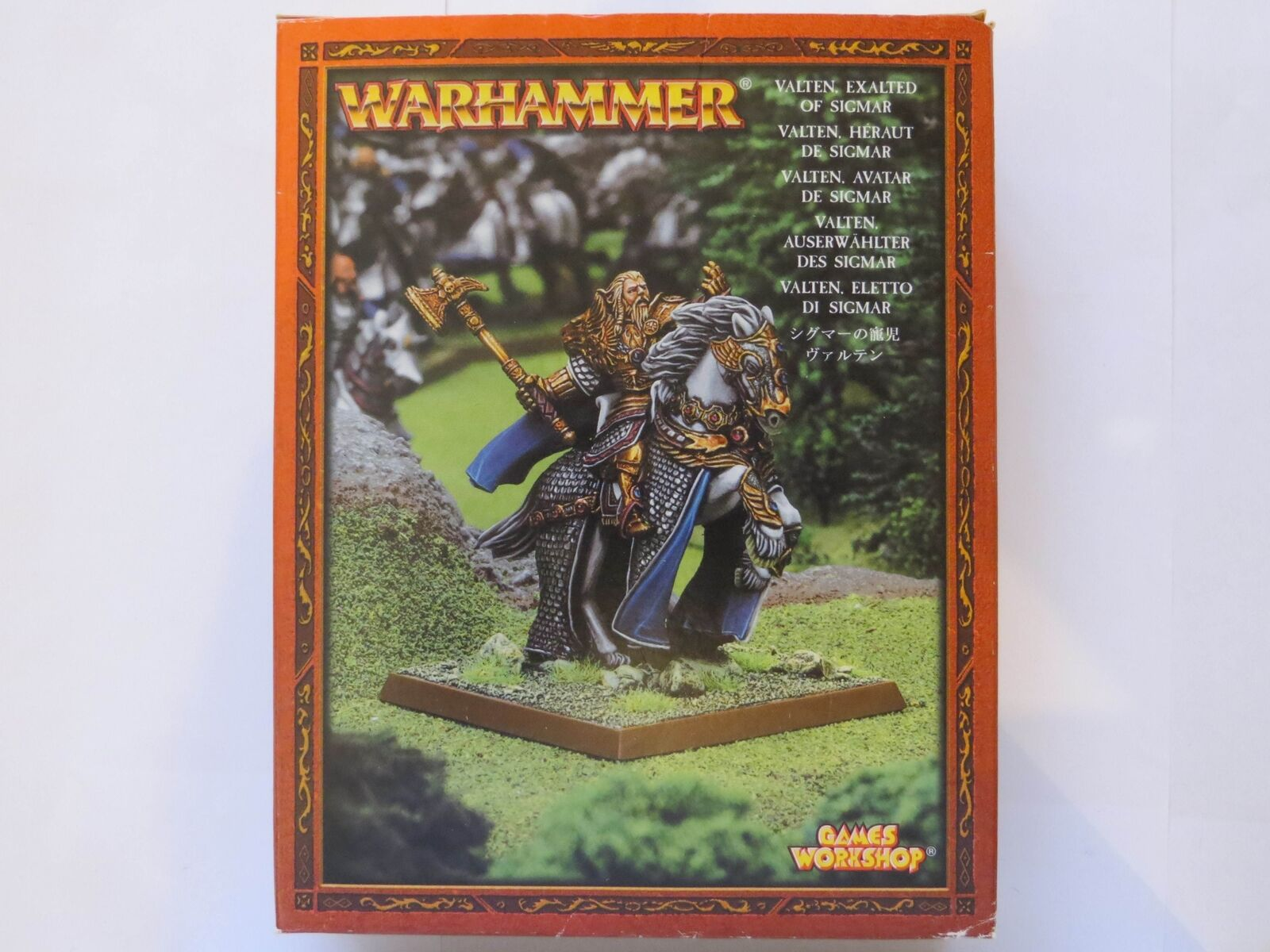VALTEN EXALTED OF SIGMAR  - Metal New Boxed Mounted Warhammer OOP Empire Citadel