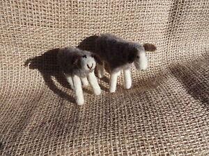 Filz-Puppe-Schaf-Handarbeit-Merino-Schafwolle-Kirgisien-Nationale-Kunstpuppe