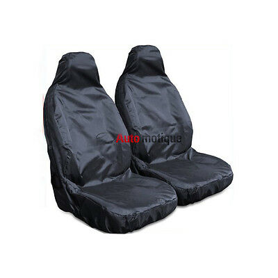 LAND ROVER DEFENDER 110  PREMIUM HEAVY DUTY FRONT SEAT COVER SET BLACK 1-1