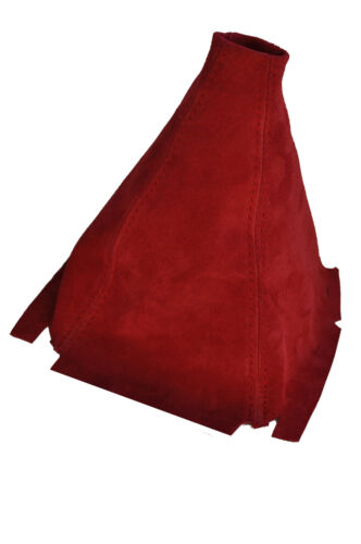 FITS HONDA CIVIC 92-95 SHIFT BOOT RED PU SUEDE NEW
