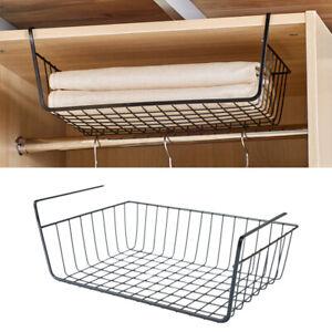 Ablagekorb-Schlafzimmer-Nachttisch-Haengekorb-Schrank-Lagerregal-Haengekorb