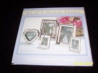 Set Of 5 Contemporary Picture Frames Mixed Sizes Silverplate Rn93677