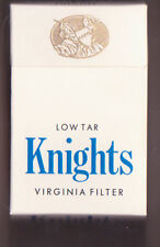 Empty Packet 20 Knights King Size  Virginia Filter  Low Tar  Made in England