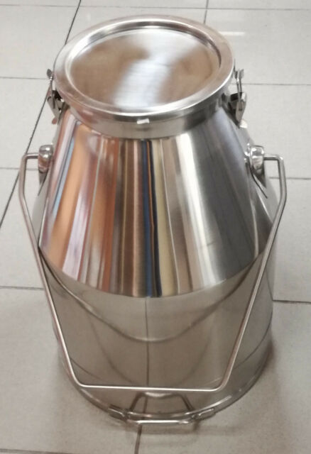 Transportkanne, Milchkanne, Kanne 25 Liter, Deckel mit 2 Verschlussklammern