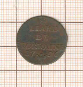 Carbone Lorraine Farthing 1726 Leopold 1er