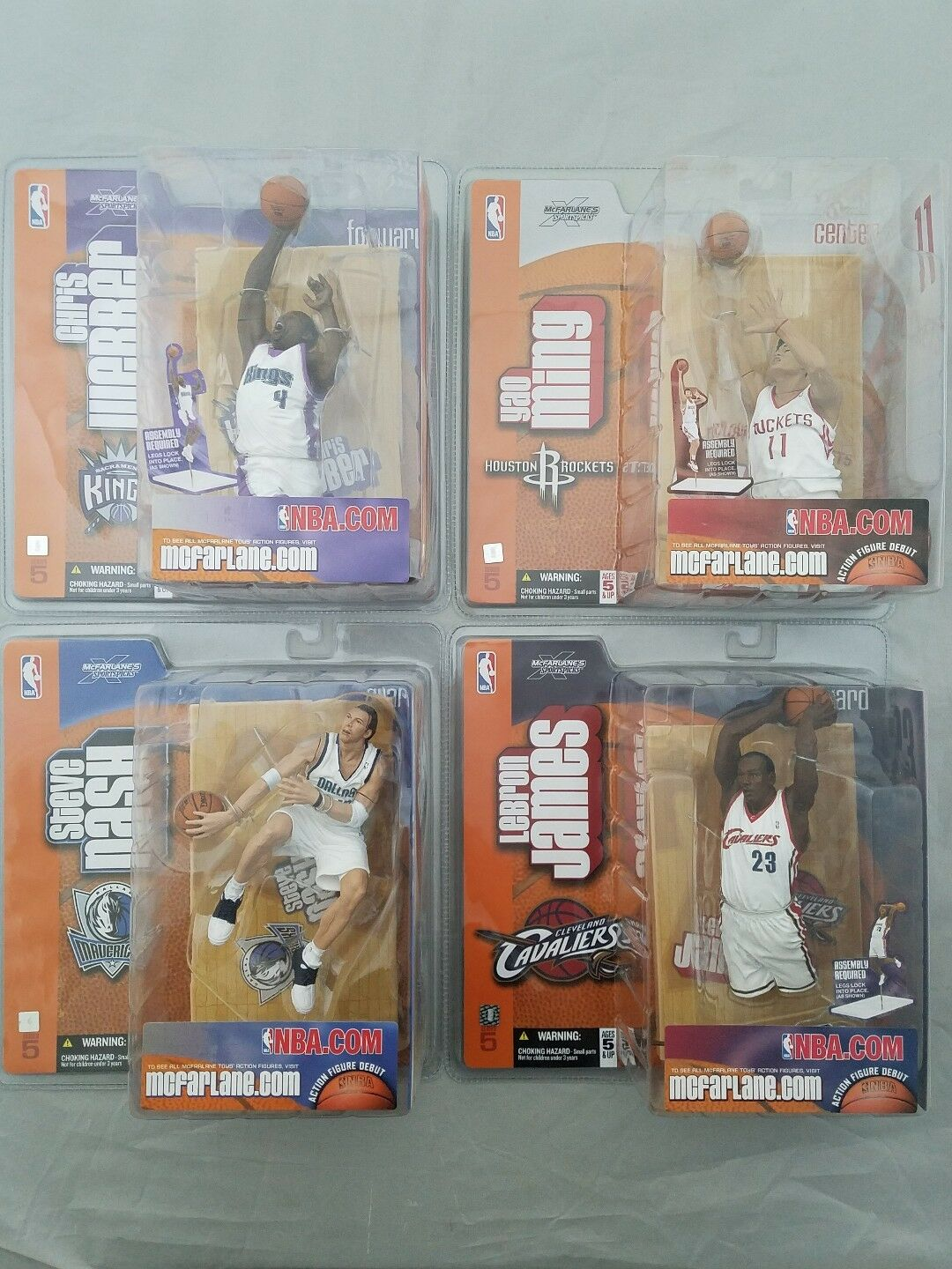 2003 Mcfarlane NBA Action Figures Lebron Nash Webber McGrady Yao Davis Lot of 9