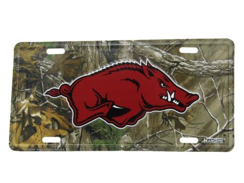 "Arkansas Razorbacks Pigs Camo Camouflage 6/""x12/"" Aluminum License Plate Tag"