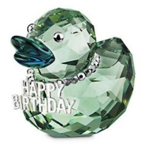 SWAROVSKI-SILVER-CRYSTAL-HAPPY-BIRTHDAY-DUCK-1078531-MINT-IN-BOX